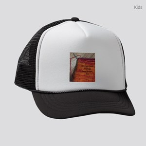 strings knit Kids Trucker hat