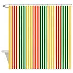 Rasta Stripes Shower Curtain