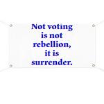 surrender Banner