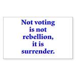 surrender Sticker (Rectangle)