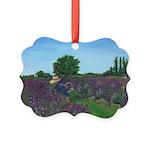 Lavender Fields Of Oregon Picture Ornament
