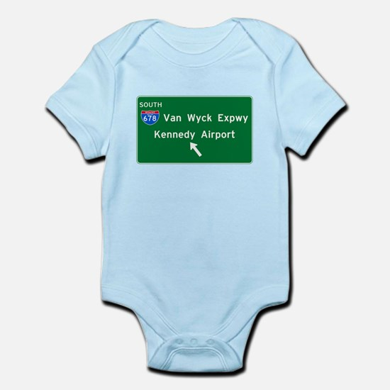 Kennedy Airport Highway Sign Infant Bodysuit