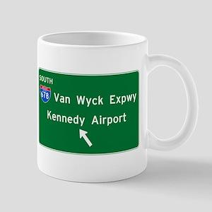 Kennedy Airport Highway Sign Mug