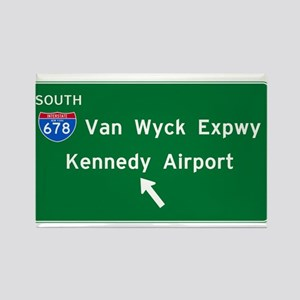 Kennedy Airport Highway Sign Rectangle Magnet