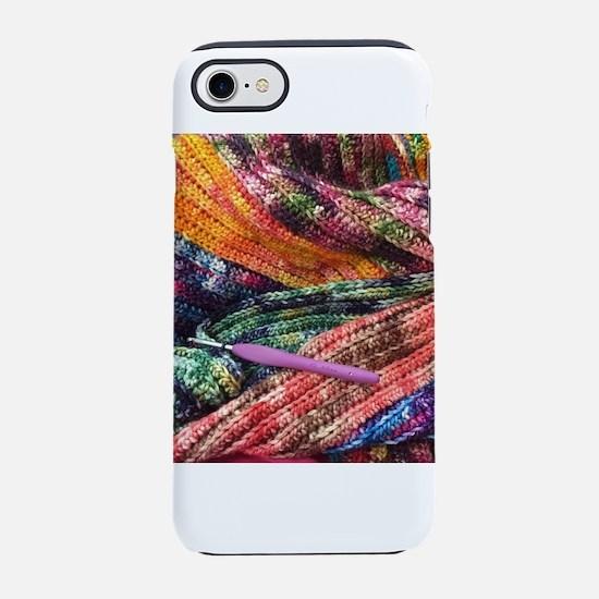 crochet afghan iPhone 7 Tough Case