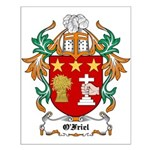O'Friel Coat of Arms Small Poster