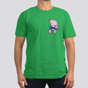 Pocket Pig Men's Fitted T-Shirt (dark)