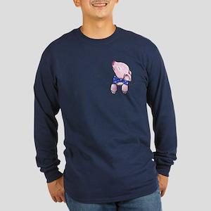 Pocket Pig Long Sleeve Dark T-Shirt