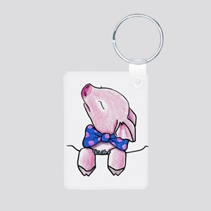 Pocket Pig Aluminum Photo Keychain