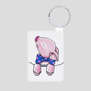 Pocket Pig Aluminum Photo Keychain