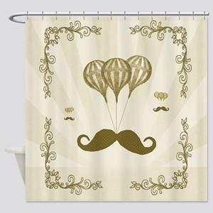 Balloon Moustache Shower Curtain