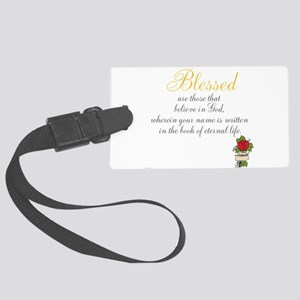 TheEulogyWeb: Blessed design #8 Large Luggage Tag