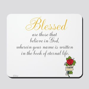TheEulogyWeb: Blessed design #8 Mousepad