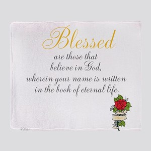 TheEulogyWeb: Blessed design #8 Throw Blanket