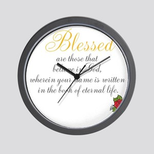 TheEulogyWeb: Blessed design #8 Wall Clock