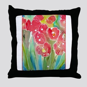 Flowers! Colorful art! Throw Pillow
