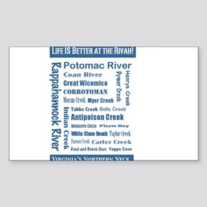 Northern Neck: It's Better at the Rivah! Sticker (