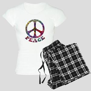 Jewelled Peace Symbol Women's Light Pajamas