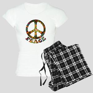 Painted Peace Symbol Women's Light Pajamas
