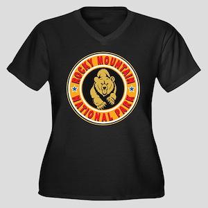 Rocky Mountain Gold Circle Women's Plus Size V-Nec
