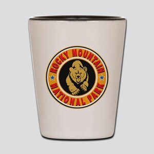 Rocky Mountain Gold Circle Shot Glass