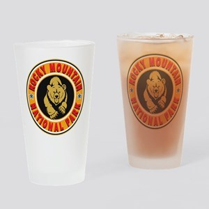 Rocky Mountain Gold Circle Drinking Glass