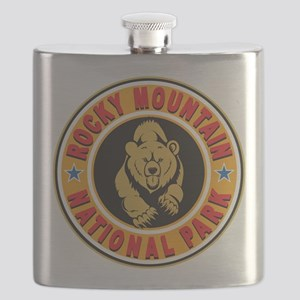 Rocky Mountain Gold Circle Flask