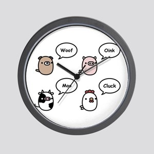 Animal Noises Wall Clock