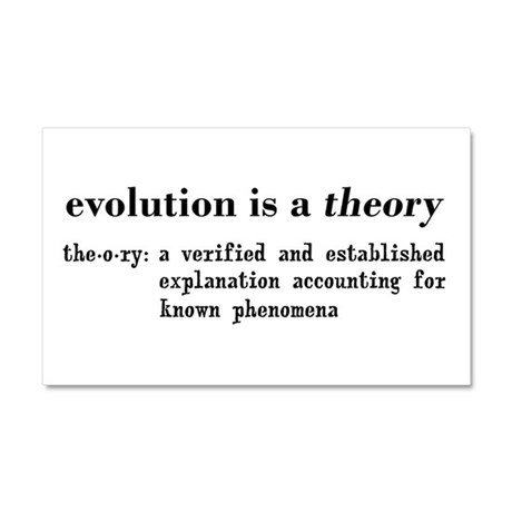 Evolution Definition of Theory Car Magnet 20 x 12
