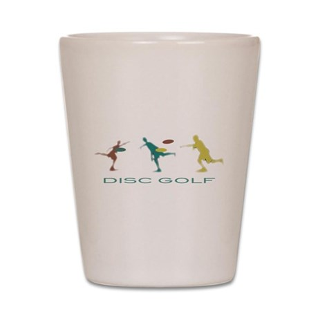 Disc Golf Triple Play Shot Glass