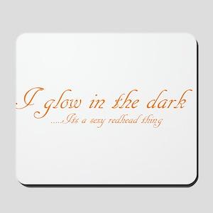 glow in the dark Mousepad