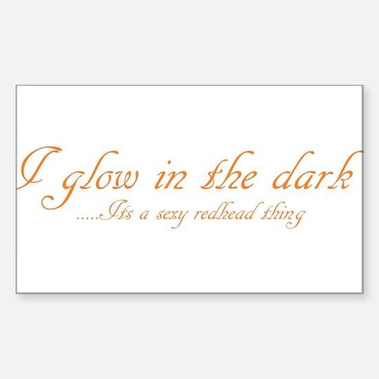 glow in the dark Sticker (Rectangle)