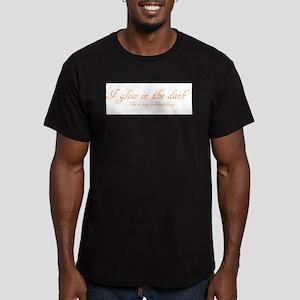 glow in the dark Men's Fitted T-Shirt (dark)