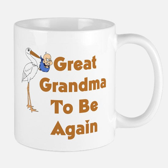 Stork Great Grandma To Be Again Mug