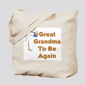 Stork Great Grandma To Be Again Tote Bag