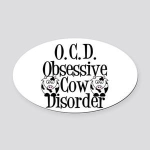 Obsessive Cow Disorder Oval Car Magnet