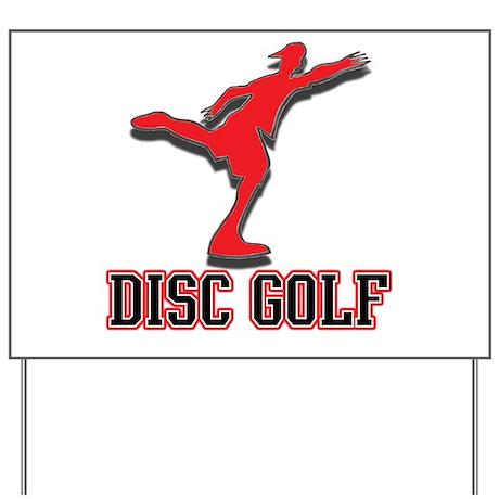 Disc golf rules Yard Sign