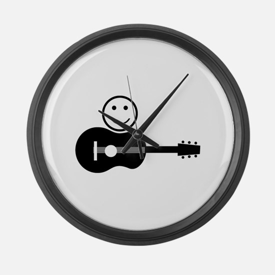 Guitar Large Wall Clock