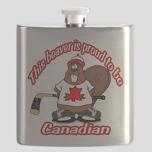 Canadian Beaver Flask