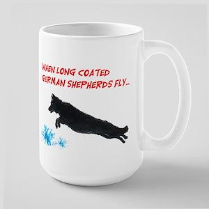 long coat dock jump Large Mug