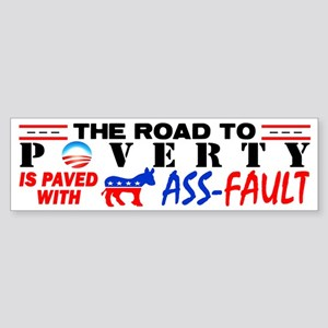 """Road To Poverty!"" Sticker (Bumper)"