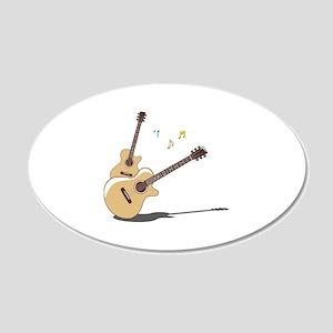Guitar 22x14 Oval Wall Peel