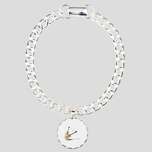 Guitar Charm Bracelet, One Charm