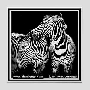 Zebra Lovers Tile Coaster