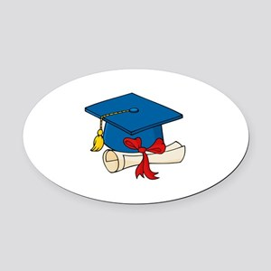 Graduation Oval Car Magnet