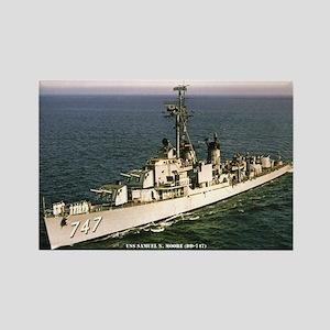 USS SAMUEL N. MOORE Rectangle Magnet
