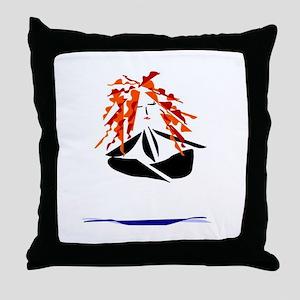 Floating Lotus Throw Pillow