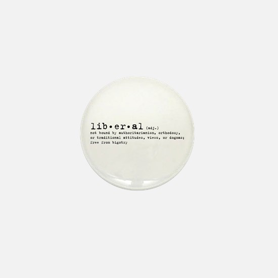 Liberal By Definition Mini Button