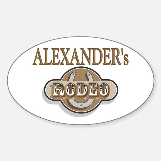 Alexander's Rodeo Personalized Oval Decal