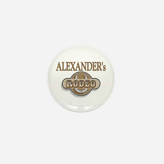 Alexander's Rodeo Personalized Mini Button
